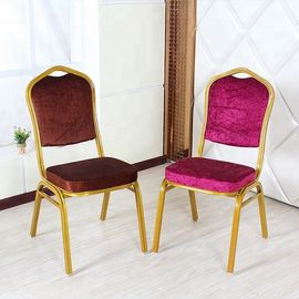 High Back Velvet Dining Chairs , Anti Slip Velvet Modern Dining Chairs
