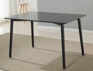 Rectangular European Style Mdf Dining Table With Metal Legs For Restaurant Furniture